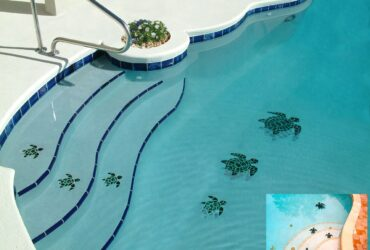 Dibujos de piscina basados en animales