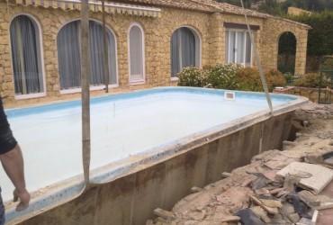 Desmontaje piscina poliester
