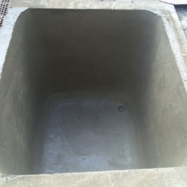 Depósito de agua de 6.000 litros.